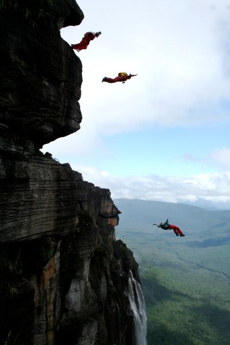 Angel Falls, Base jump, Anniken Binz, Venezuela