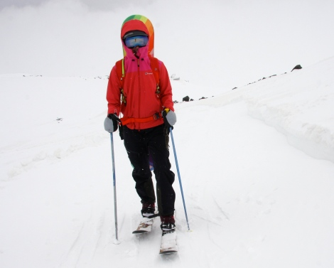 Walking up on my Mt Approach skis