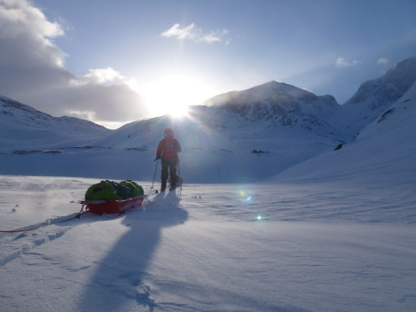 pulk, skiing, Hardangervidda, mountains, beauty