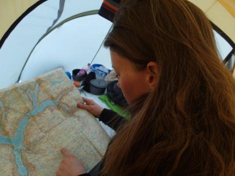 map, compass, navigation, Anniken Binz, Berghaus