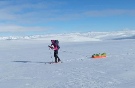 skiing, pulk, Anniken Binz, Berghaus