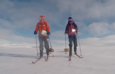 Skiing over Hardangervidda