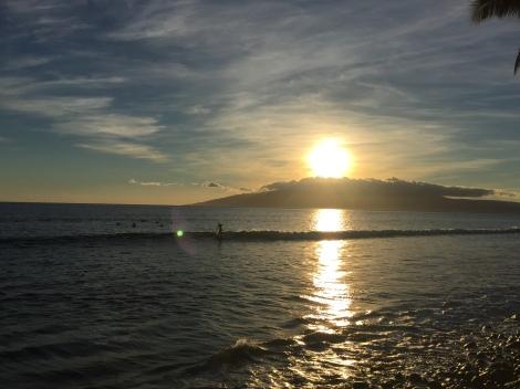 Hawaii, sunset, Anniken Binz, Sharks